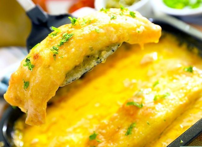 Prent getiteld Make Chicken Enchiladas Stap 41