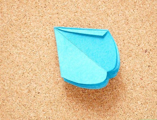 Prent getiteld Maak Origami Tropiese Blomme Stap 11