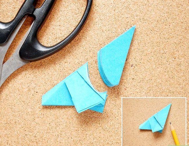 Prent getiteld Maak Origami Tropiese Blomme Stap 8