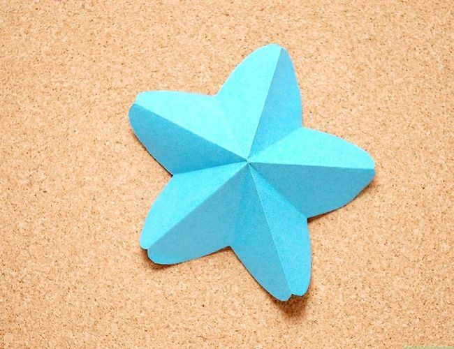 Prent getiteld Maak Origami Tropiese Blomme Stap 9