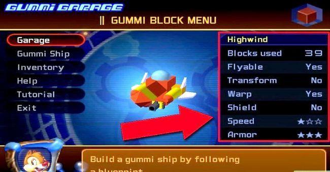 Prent getiteld Maak die Ultimate Rubber Ship in Kingdom Hearts 2 Stap 1