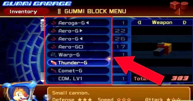 Prent getiteld Maak die Ultimate Rubber Ship in Kingdom Hearts 2 Stap 2