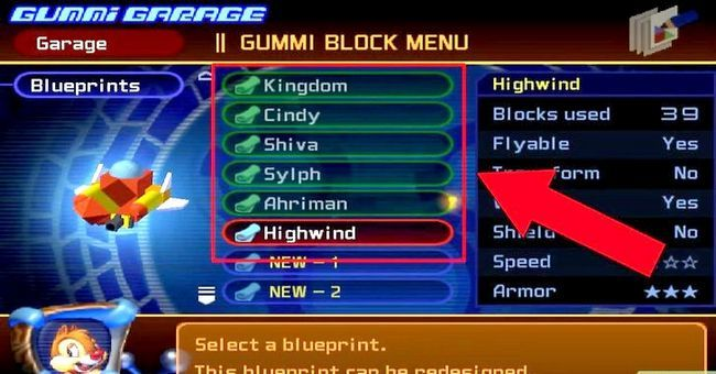 Prent getiteld Maak die Ultimate Rubber Ship in Kingdom Hearts 2 Stap 4