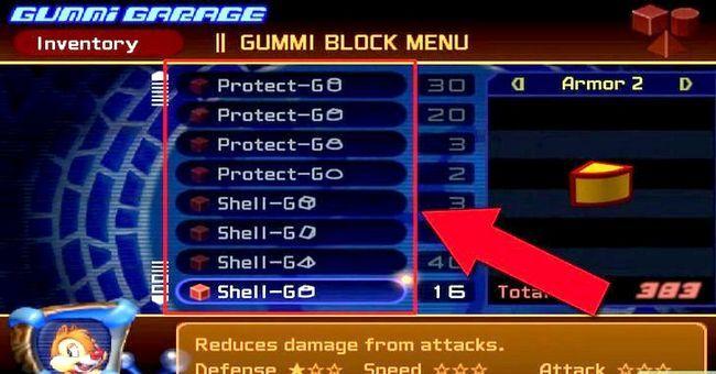 Prent getiteld Maak die Ultimate Rubber Ship in Kingdom Hearts 2 Stap 5