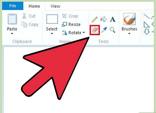 Prent getiteld Maak `n gieter groter in MS Paint op Windows 7 Laptop Stap 1