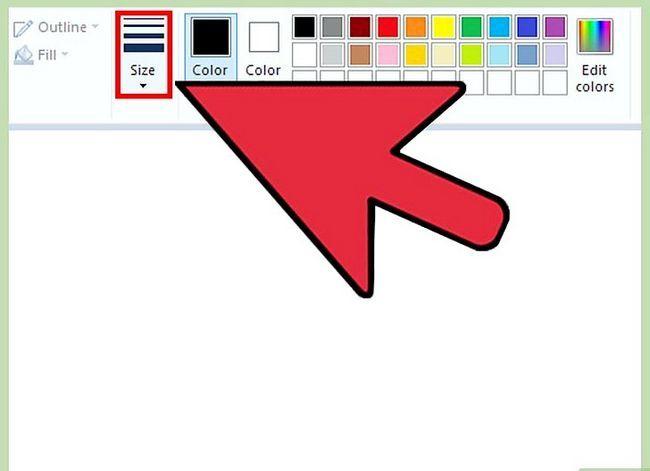 Prent getiteld Maak `n gieter groter in MS Paint op Windows 7 Laptop Stap 2