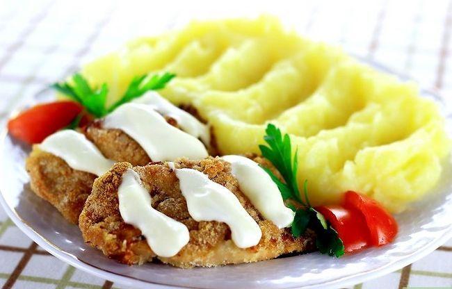 Prent getiteld Maak Mayonnaise Kip Stap 8