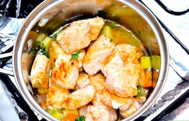 Prent getiteld Maak Sauteed Chicken Stap 19