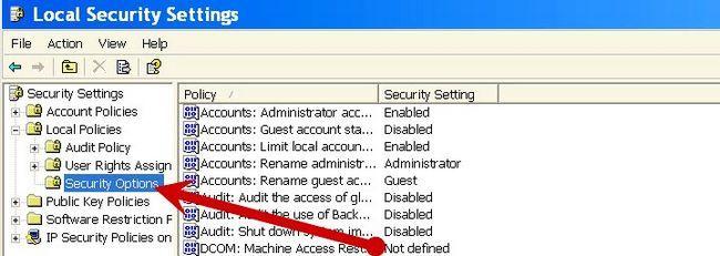Prent getiteld Maak `n gebruikersovereenkomst vertoon by opstarten in Windows XP Stap 3