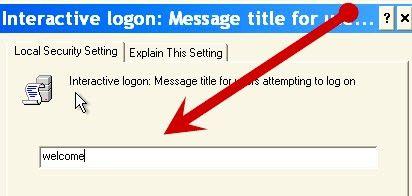Prentjie getiteld `n gebruikersooreenkoms word vertoon by opstarten in Windows XP Stap 5