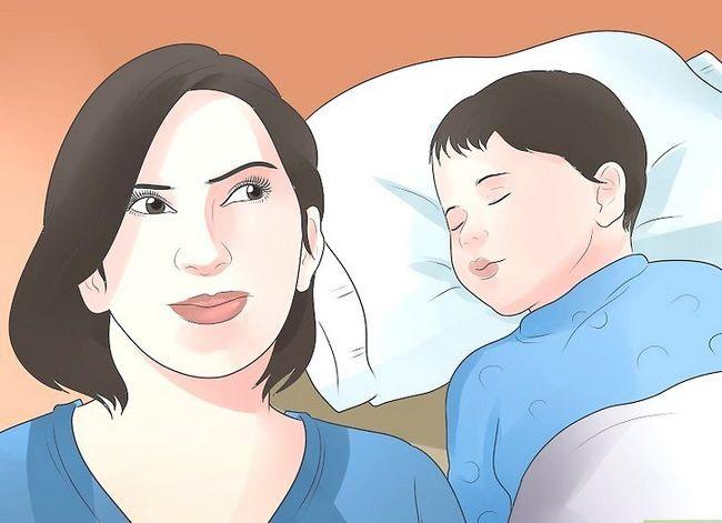 Prent getiteld Kry `n baba met `n oorinfeksie om Stap 2 te slaap