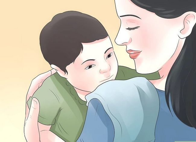 Prent getiteld Kry `n baba met `n oorinfeksie om Stap 6 te slaap