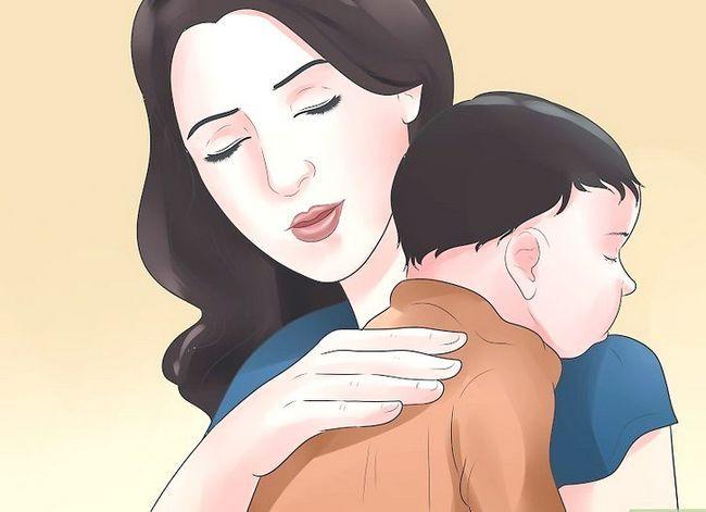 Prent getiteld Kry `n baba met `n oorinfeksie om na Stap 8 te slaap