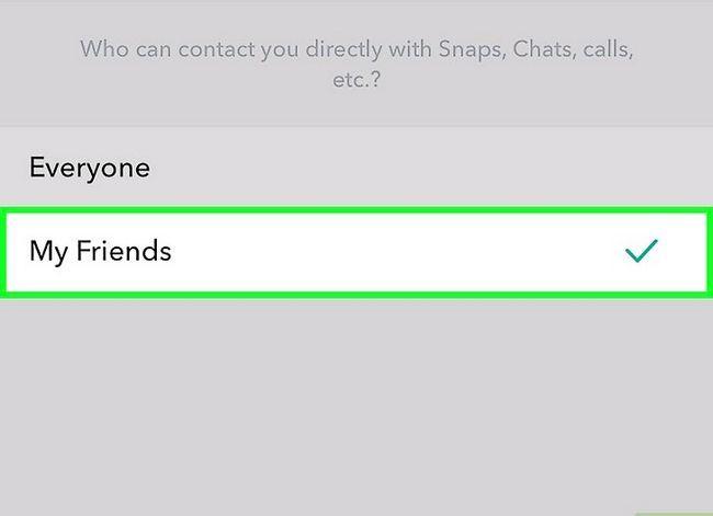 Prent getiteld Maak jou Snapchat-rekening Privaat Stap 5