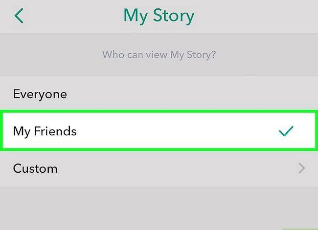 Prent getiteld Maak jou Snapchat-rekening Privaat Stap 8