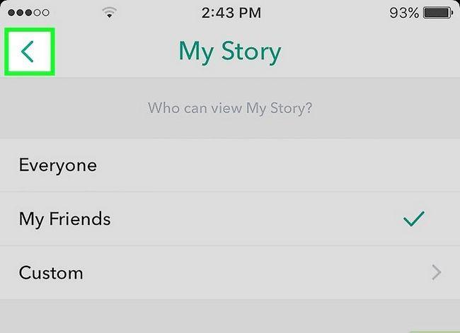 Prent getiteld Maak jou Snapchat-rekening Privaat Stap 9
