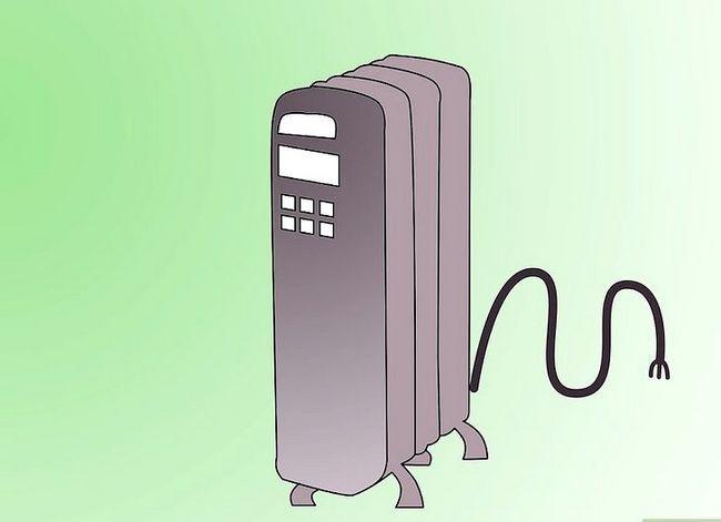 Prent getiteld Warm `n kamer op Stap 1