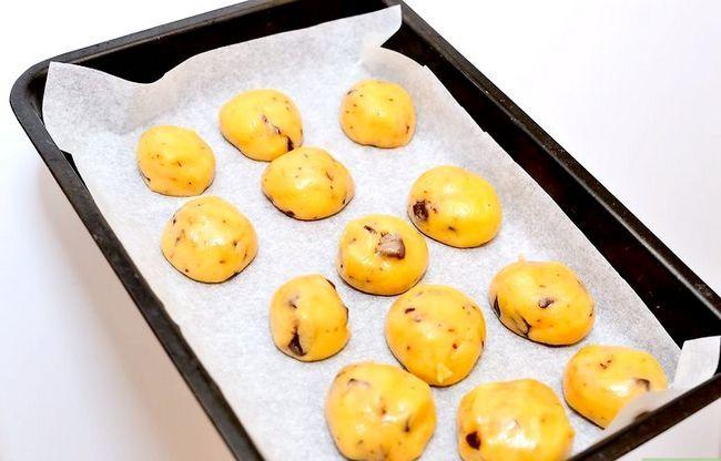 Prent getiteld Maak Chocolate Chip Cookie Deeg Cupcakes Stap 9