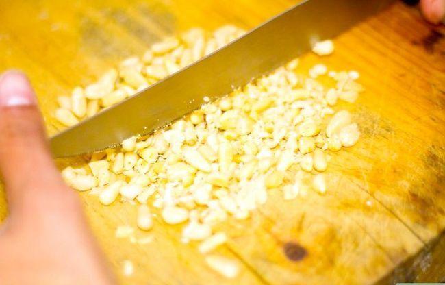 Prent getiteld Maak Basil Pesto Pasta Stap 1