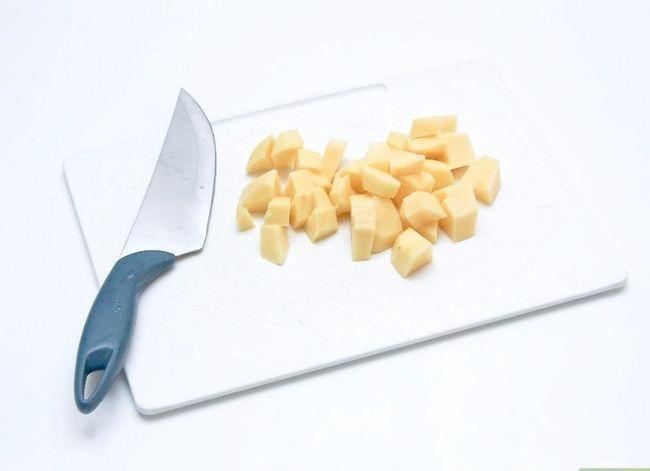 Prent getiteld Maak Aartappelsoep Stap 16