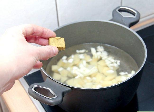 Prent getiteld Maak Aartappelsop Stap 2