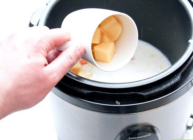 Prent getiteld Maak Aartappelsoep. Stap 31