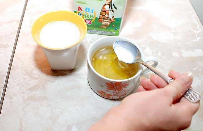 Prent getiteld Voeg melk Stap 3 1