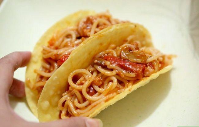 Prent getiteld Maak Spaghetti Tacos Stap 5