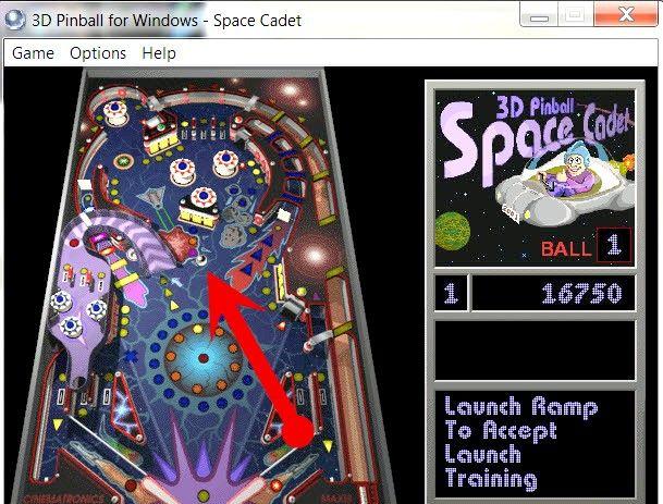 Prent getiteld Do Cheats on Windows Pinball Stap 2