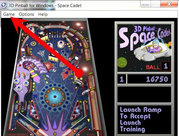 Prent getiteld Do Cheats on Windows Pinball Stap 3