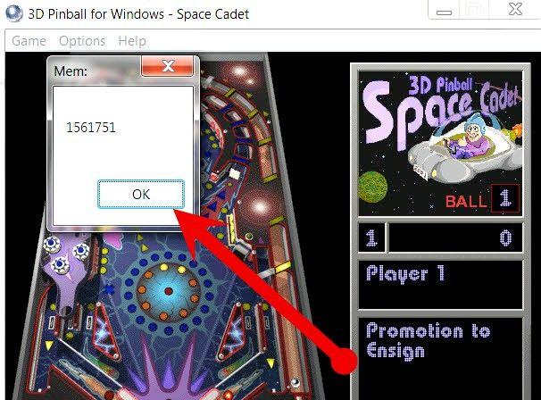 Prent getiteld Do Cheats on Windows Pinball Stap 7
