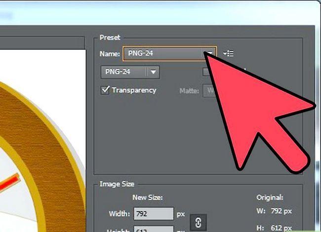 Prent getiteld Maak Adobe Illustrator Agtergrond Transparante Stap 2