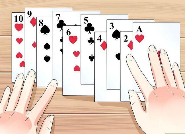 Prent getiteld Doen jou eerste kaart truuk Stap 1