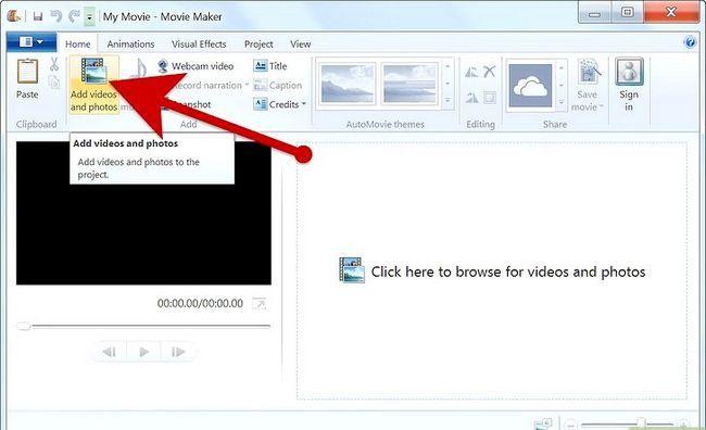 Prent getiteld Maak `n fotoalbum op Windows Movie Maker Stap 3