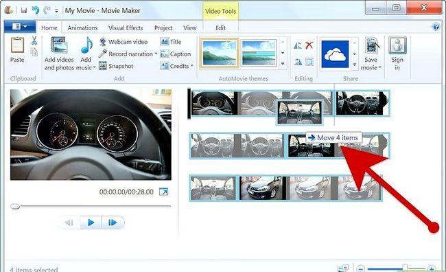 Prent getiteld Maak `n fotoalbum op Windows Movie Maker Stap 4