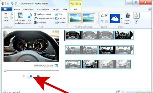 Prent getiteld Maak `n fotoalbum op Windows Movie Maker Stap 5