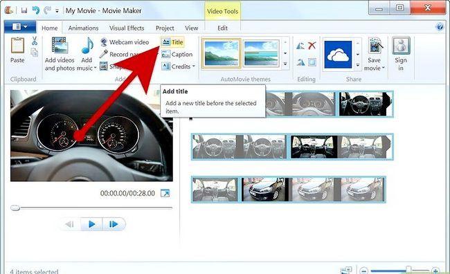 Prent getiteld Maak `n fotoalbum op Windows Movie Maker Stap 6
