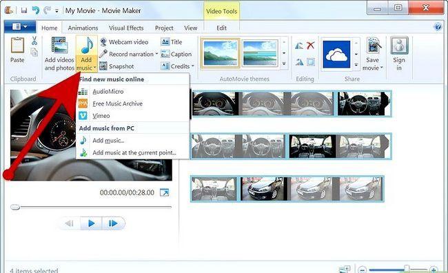 Prent getiteld Maak `n fotoalbum op Windows Movie Maker Stap 7