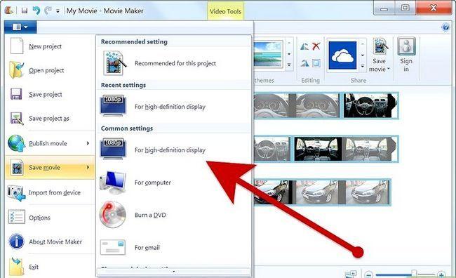 Prent getiteld Maak `n fotoalbum op Windows Movie Maker Stap 8