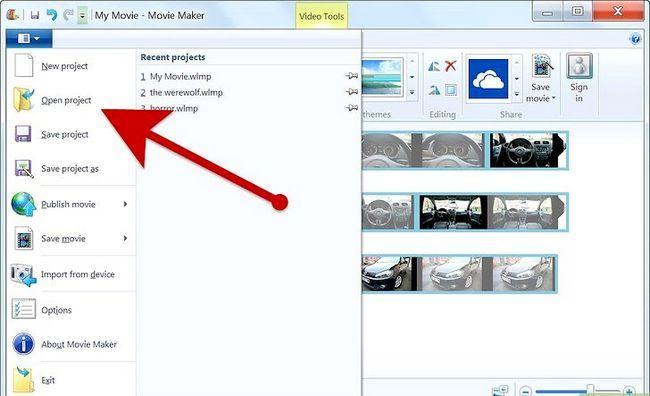 Prent getiteld Maak `n fotoalbum op Windows Movie Maker Stap 9