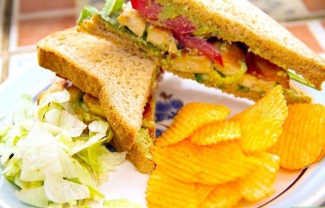 Prent getiteld Maak `n Gegrilde Hoender Club Sandwich Intro