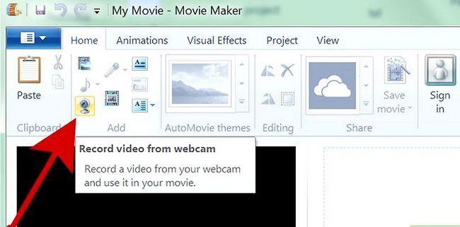 Prent getiteld `n kommersiële maak met behulp van Windows Movie Maker Stap 1