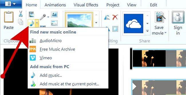 Prent getiteld `n kommersiële maak met behulp van Windows Movie Maker Stap 4