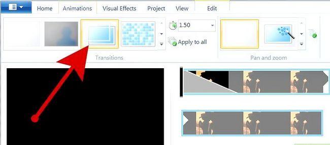 Prent getiteld `n kommersiële maak met behulp van Windows Movie Maker Stap 9