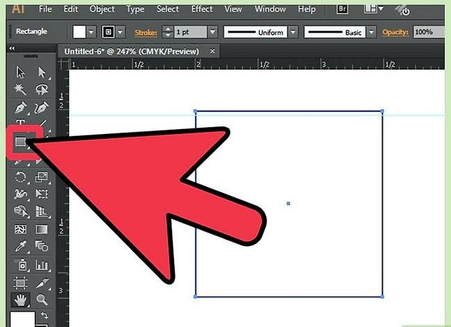 Prent getiteld Maak `n kubus in Adobe Illustrator Stap 1