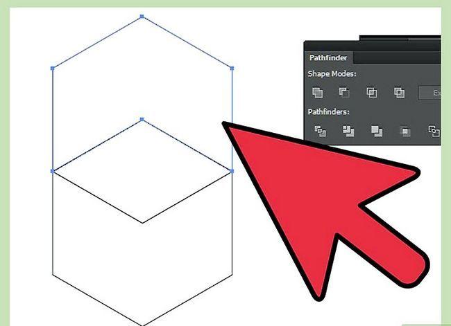 Prent getiteld Maak `n kubus in Adobe Illustrator Stap 14