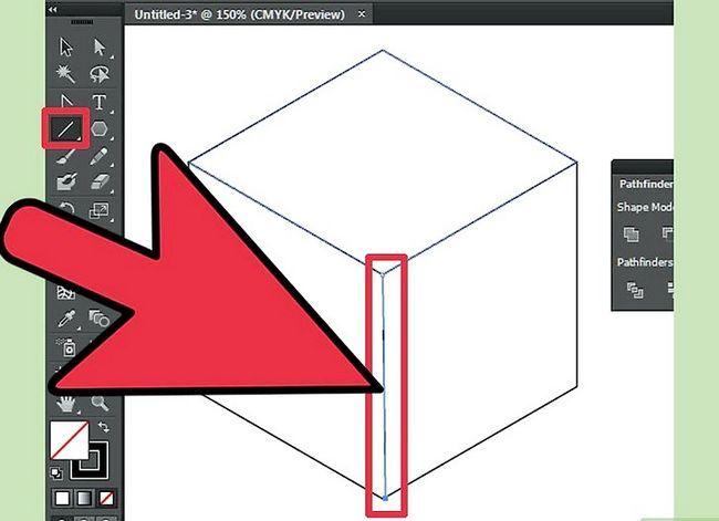 Prent getiteld Maak `n kubus in Adobe Illustrator Stap 15