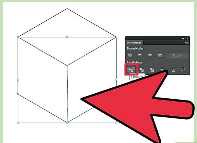 Prent getiteld Maak `n kubus in Adobe Illustrator Stap 16