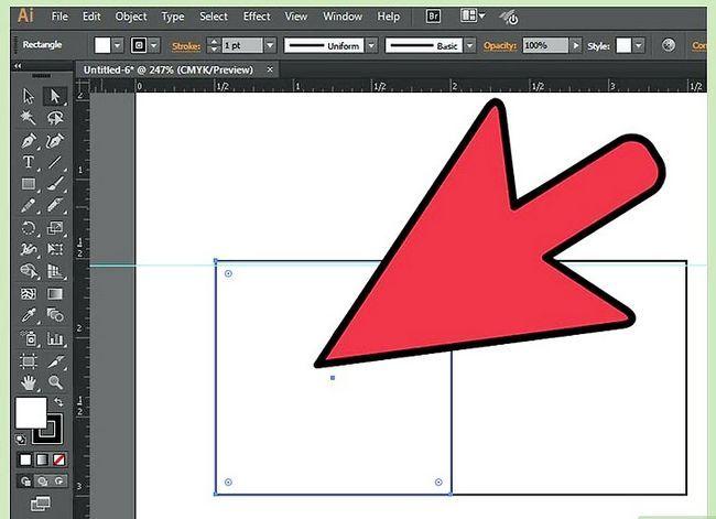 Prent getiteld Maak `n kubus in Adobe Illustrator Stap 2