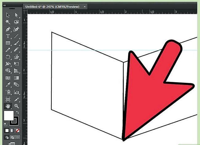 Prent getiteld Maak `n kubus in Adobe Illustrator Stap 4